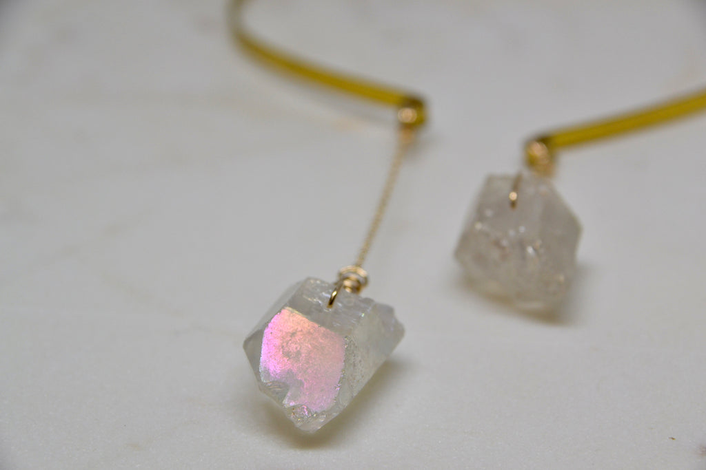 Angel Aura Quartz Collar Necklace