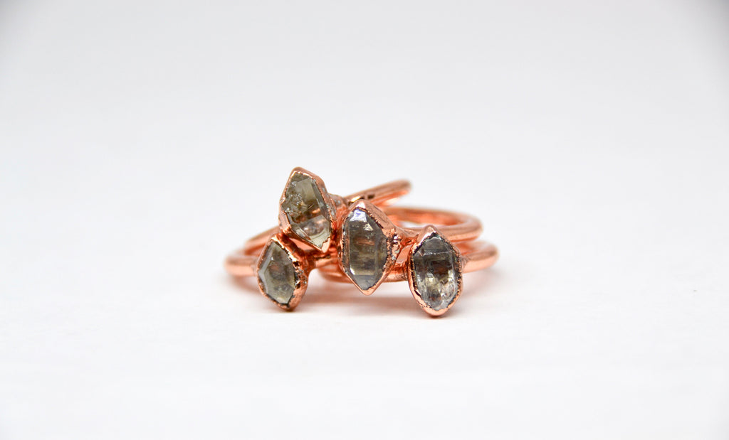 Herkimer Diamond Ring| April Birthstone