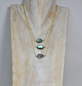 Gold Filled Faceted Labradorite Necklace