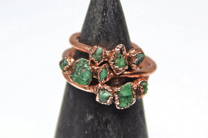 Multi-Stone Emerald Ring | May Birthstone