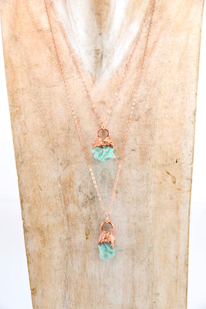 Copper Emerald Necklace | May Birthstone