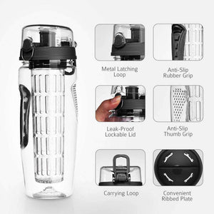 glass infuser water bottle