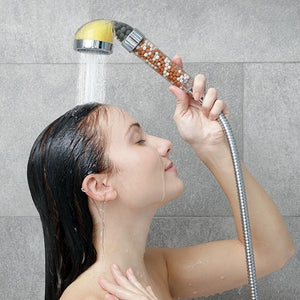 shower head with beads