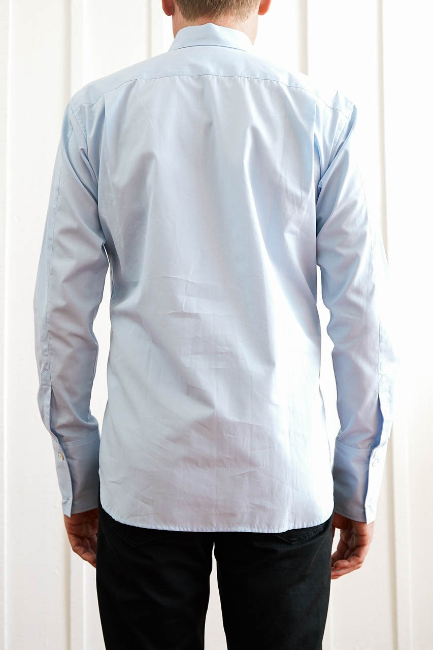 Button Down Slim Shirt - Pale Blue