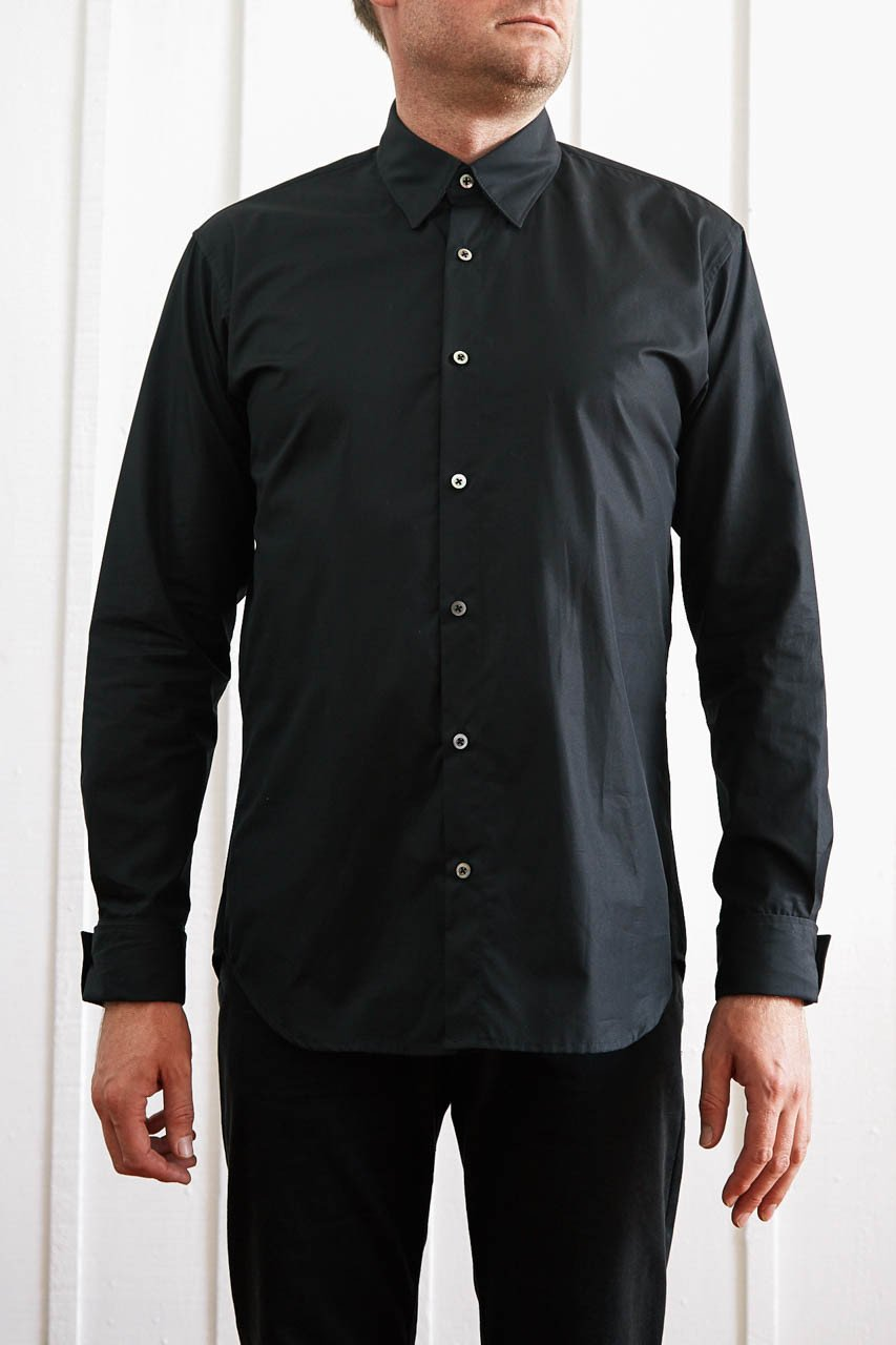 Button Down Slim Shirt - Black