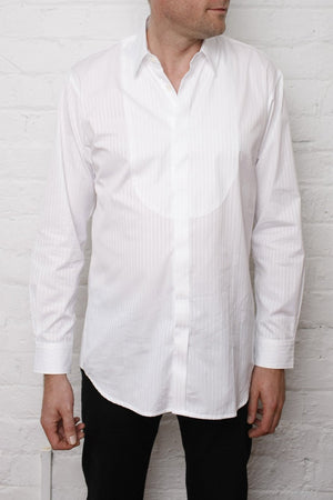 Dinner Shirt - Self Stripe Bib