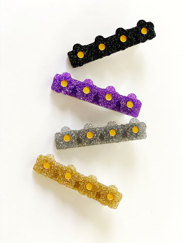 Blossom Glitter Clips  (Sold Separately)