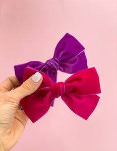 Rose Velvet Oversized Elle Bow ~ The Lovely Little Lady Collection