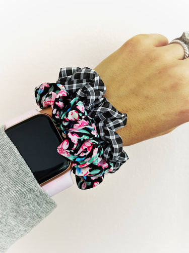 Mini Floral Scrunchie Set