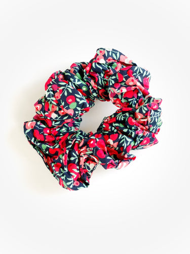 Holiday Floral Floral Scrunchie