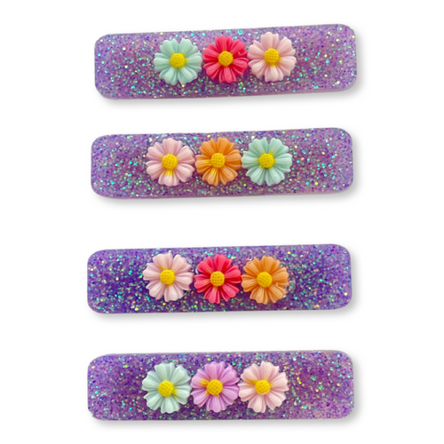 Flower Bunch Clips in Deep Wisteria