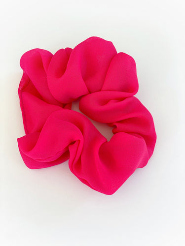 So Pink Chiffon Scrunchie