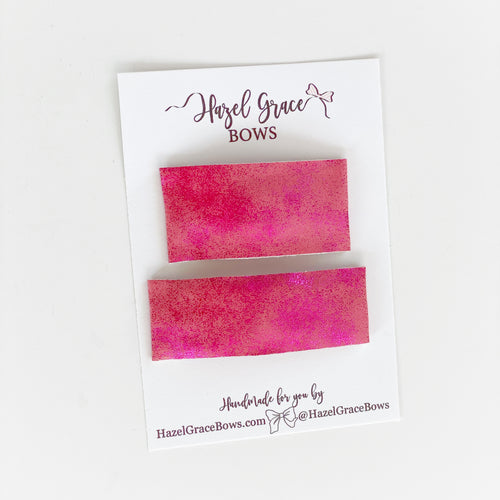Weathered Pink Vegan Leather Snap Clip (2 sizes available) ~ The Lovely Little Lady Collection