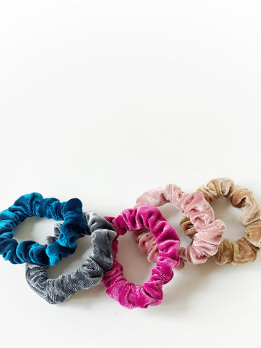 Slim Velvet Scrunchie Set