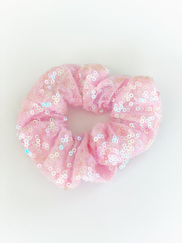 Girlhood Magic Pink Sequin Scrunchie