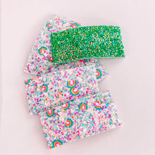 Load image into Gallery viewer, Lucky Charm Rainbow Glitter Snap Clip (2 Sizes available)