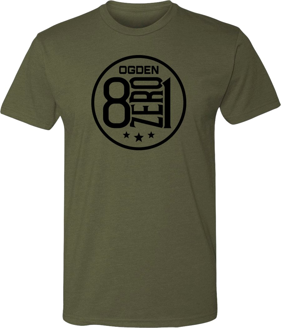801 eight zero one 8zero1 military green ogden tees t-shirt tshirt tee shirt short sleeve utah clothing local shop ogdenmade