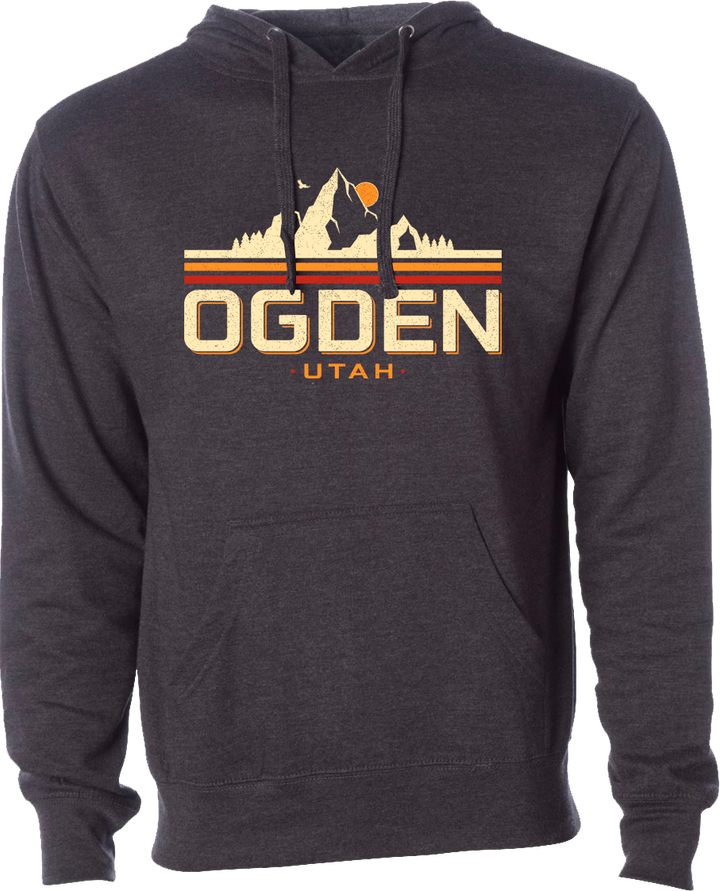mountain ogden charcoal heather ogden hoodies hooded sweatshirts fleece utah clothing local shop ogdenmade