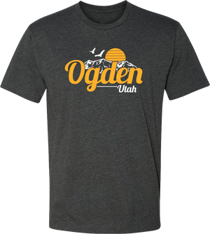 original sunset charcoal ogden tees t-shirt tshirt tee shirt short sleeve utah clothing local shop ogdenmade