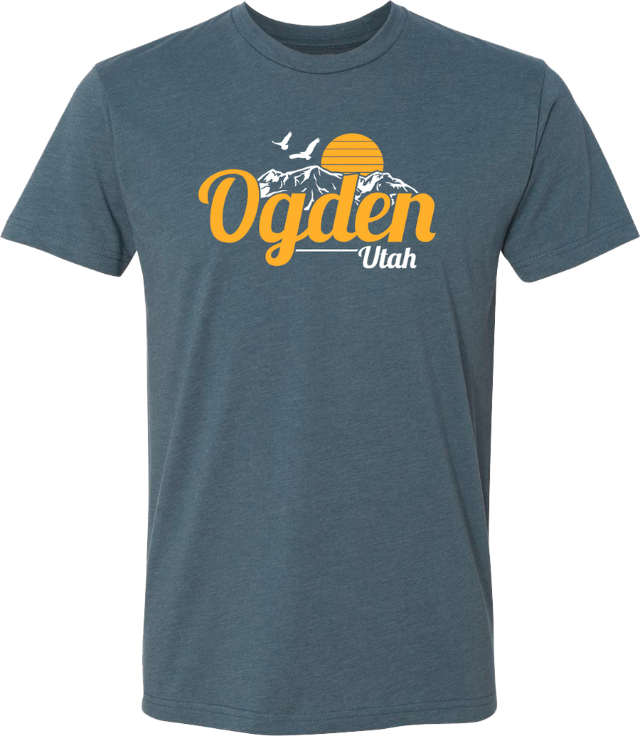 original sunset indigo ogden tees t-shirt tshirt tee shirt short sleeve utah clothing local shop ogdenmade