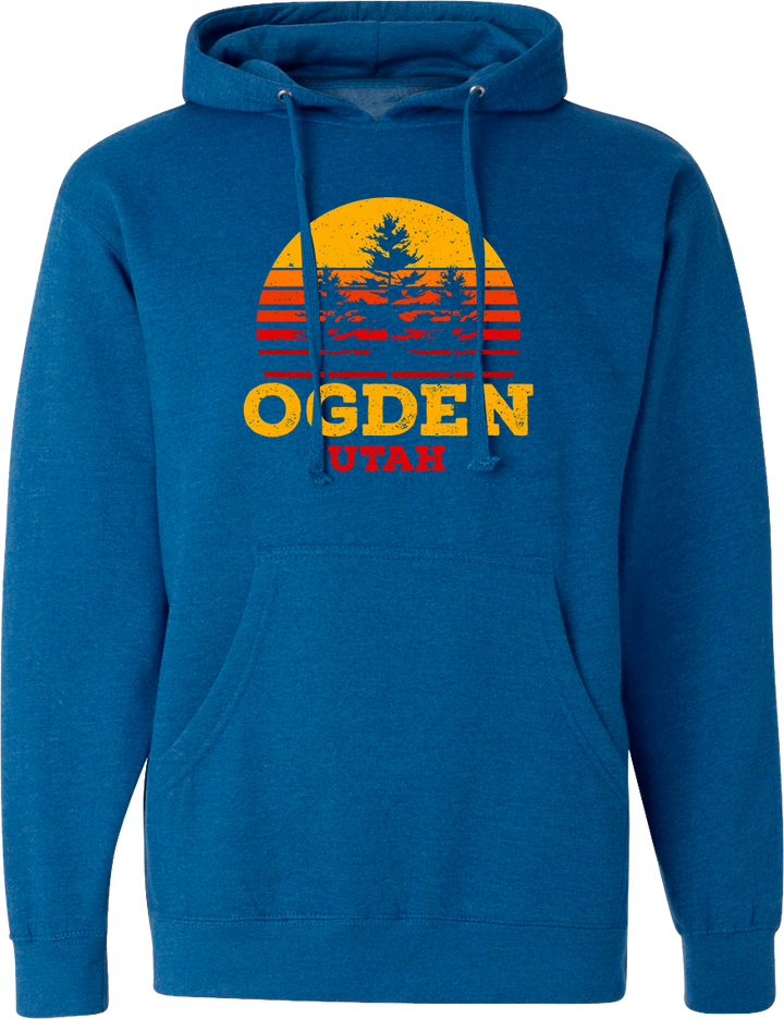 tri tree sunset hoodie royal heather ogden hoodies hooded sweatshirts fleece utah clothing local shop ogdenmade