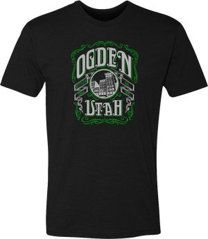 whiskey label black ogden tees t-shirt tshirt tee shirt short sleeve utah clothing local shop ogdenmade