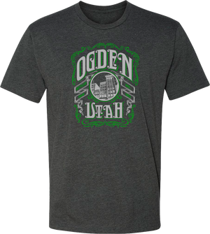 whiskey label charcoal ogden tees t-shirt tshirt tee shirt short sleeve utah clothing local shop ogdenmade