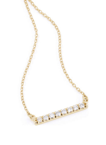 Gold and Diamond Bar Necklace Part of our Fine Jewelry Necklace Boutique