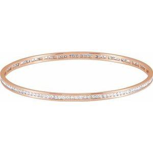 14K Rose Gold 2.25 CTW Diamond Stackable Bangle 8