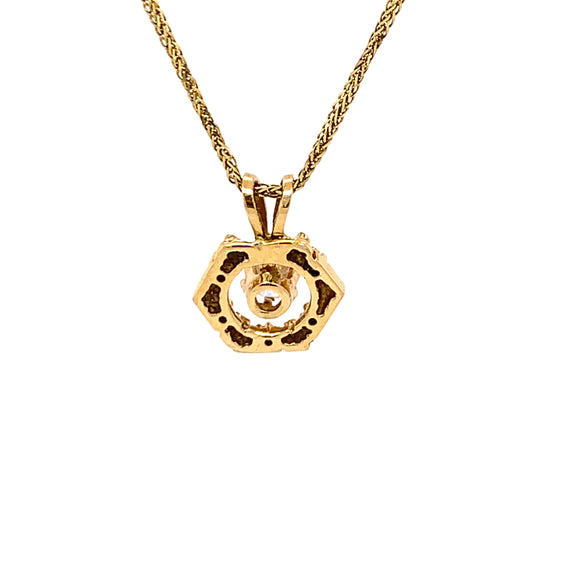 Sustainable Jewelry Vintage Necklace 14K Yellow Gold 20