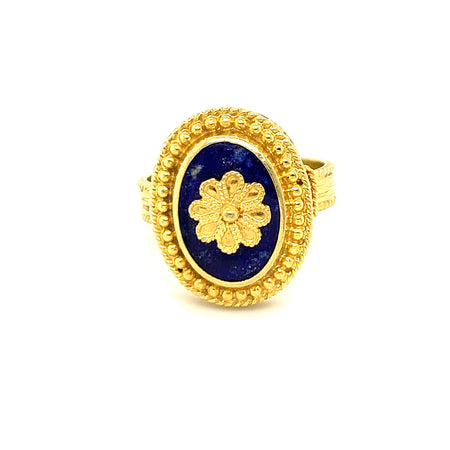 ATHENA 14K GOLD & SODALITE RING