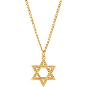 Star of David Necklace 24K Yellow Gold-Plated Sterling Silver 28.8 x 22.62 MM Ethical Sustainable Fine Jewelry Storyteller by Vintage Magnality