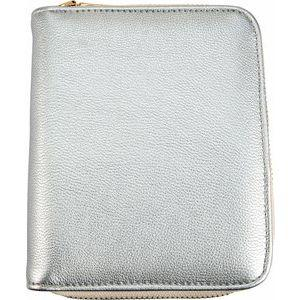 Cruelty-Free Leatherette Jewelry Travel Case in Silver Storyteller by Vintage Magnality