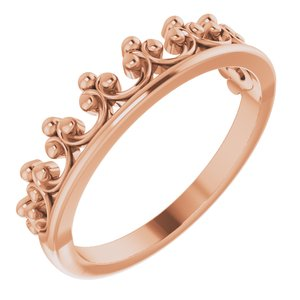 14K Rose Gold Stackable Crown Ring Ethical Sustainable Fine Jewelry Storyteller by Vintage Magnality