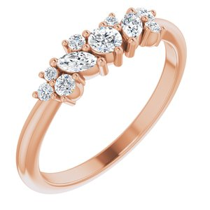 1/3 CTW Diamond Multi-Shape Ring 14K Rose Gold Ethical Sustainable Fine Jewelry Storyteller by Vintage Magnality