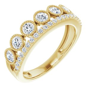 1 CTW Lab-Grown Diamond Ring 14K Yellow Gold