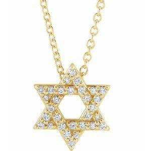 1/8 CTW Diamond Star of David 16-18