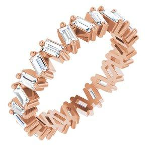 1.5 CTW Lab-Grown Diamond Eternity Band Size 7 14K Rose Gold Ethical Sustainable Fine Jewelry Storyteller by Vintage Magnality