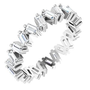 1.5 CTW Lab-Grown Diamond Eternity Band Size 7 14K White Gold Ethical Sustainable Fine Jewelry Storyteller by Vintage Magnality