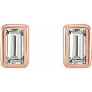 .07 CTW Diamond Bezel-Set Stud Earrings 14K Rose Gold Ethical Sustainable Fine Jewelry Storyteller by Vintage Magnality