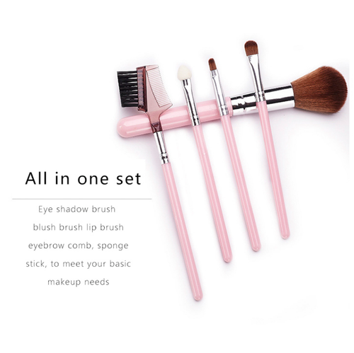 BiYa 5 pcs Makeup Cosmetic Brush Kit
