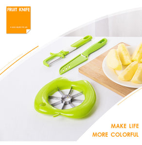3-piece Fruit Cut Multi-function Stainless Steel Plastic Apple Cutting Machine Creative Kitchen Gadget Set