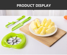 Load image into Gallery viewer, 3-piece Fruit Cut Multi-function Stainless Steel Plastic Apple Cutting Machine Creative Kitchen Gadget Set
