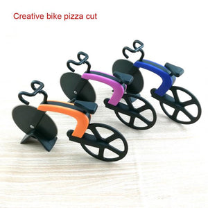Bicycle Pizza Cutter Wheel Stainless Bike Roller Pizza Chopper Slicer Kitchen Gadget