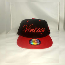 Load image into Gallery viewer, Vintage SnapBack Hat Black and Red