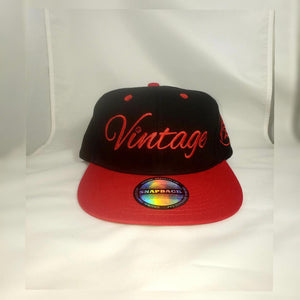 Vintage SnapBack Hat Black and Red