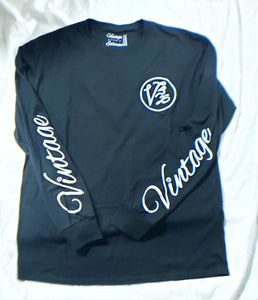 Vintage Long Sleeved T-shirt Black & White
