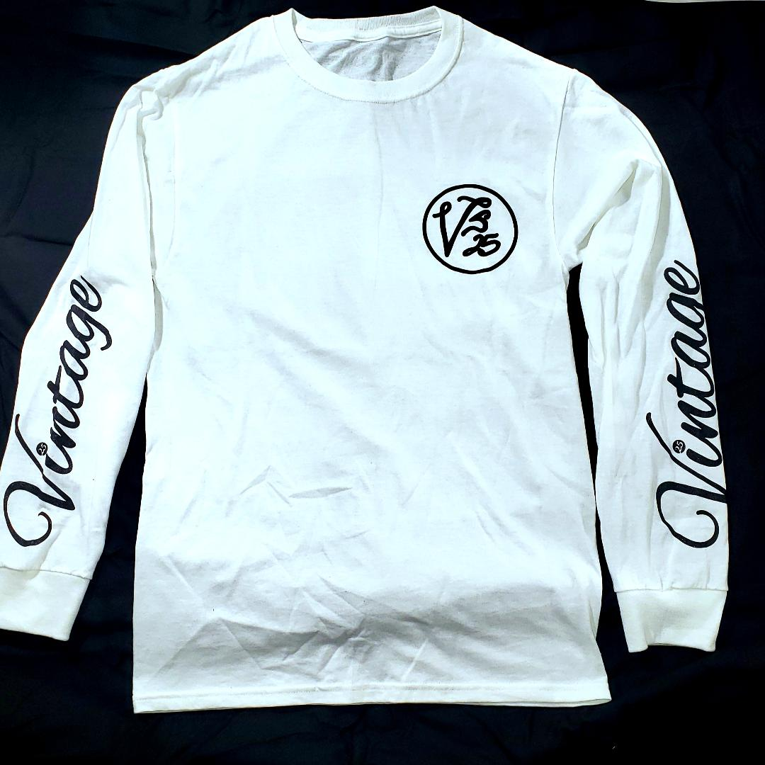 Vintage Long Sleeve T-Shirt White & Black