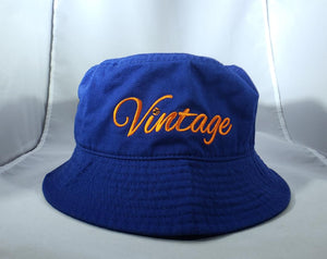 Vintage Bucket Hat Royal Blue (1)