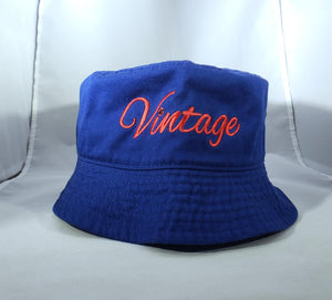 Vintage Bucket HaT Royal Blue (2)